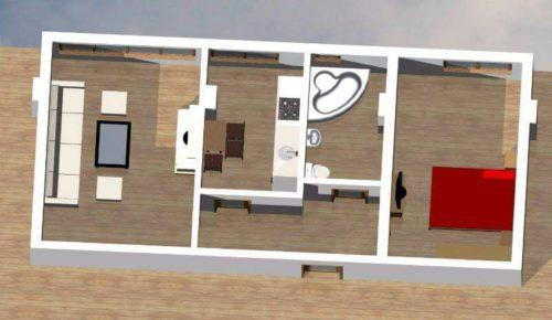 apartament doua camere plan